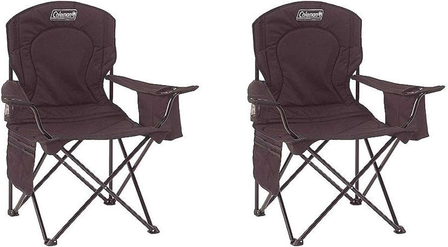 Coleman Portable Camping Quad Chair with 4-Can Cooler 2000020267