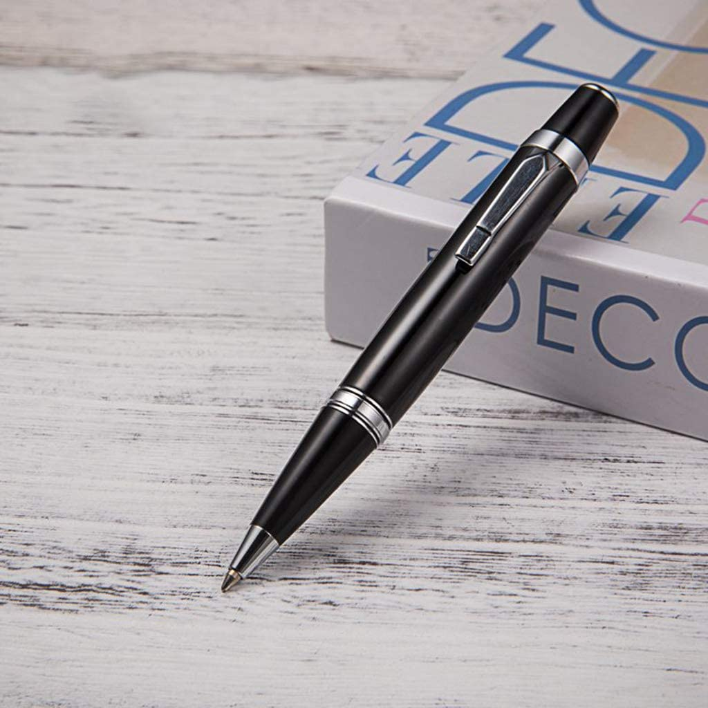 ZOOMY Metallo Mini Penna a Sfera Firma Affari Forniture per Ufficio Studente di Scrittura di cancelleria Regalo Nero