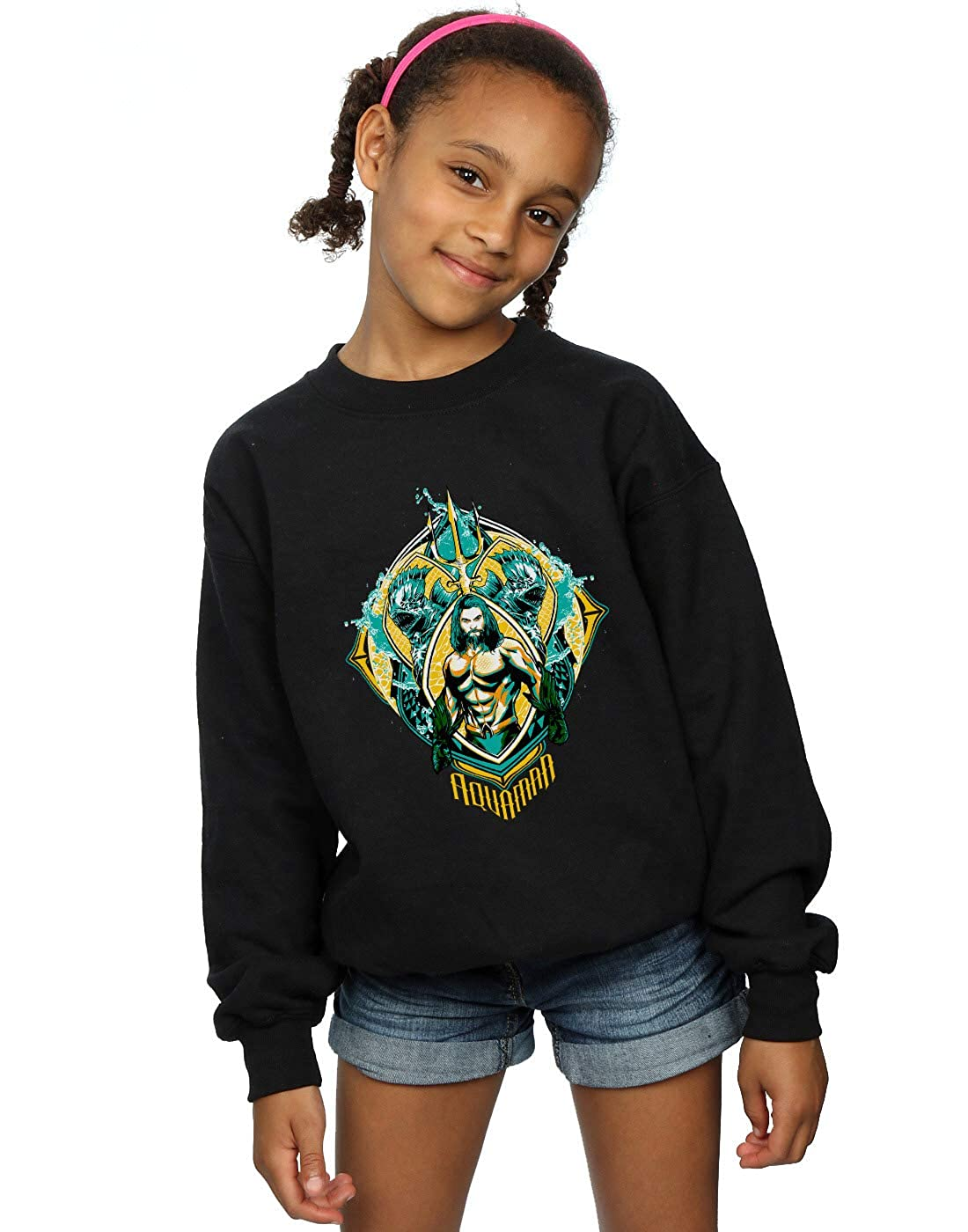 DC Comics Girls Aquaman The Trench Crest Sweatshirt