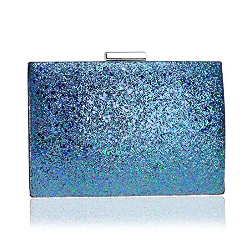 Color evening Bag New Fly Bag Bag Evening Red Ladies European Fashion And Sequin bag Evening Banquet Hand Blue American a6C6vwqd