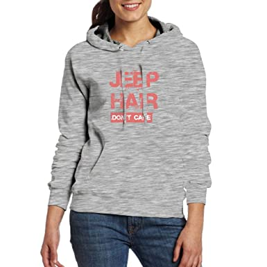 Hoodies Pullover Sweatshirts with Pocket Jeep Hair Dont Care for Womens at Amazon Womens Clothing store: