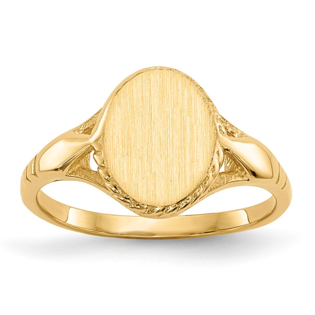 ICE CARATS 14k Yellow Gold Signet Band Ring Size 3.00 Fine Jewelry Gift Set For Women Heart