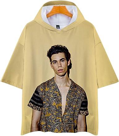 NCTCITY Cameron Boyce Camiseta con Capucha de Manga Corta 3D Impresión Hoodies T Shirts de Verano tee Algodón Camisa Suelta para Hombres y Mujeres ...