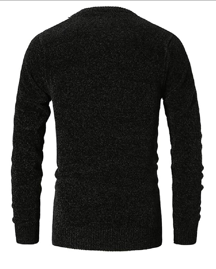 WSPLYSPJY Mens Knit Long Sleeves Crewneck Sweaters Blouse
