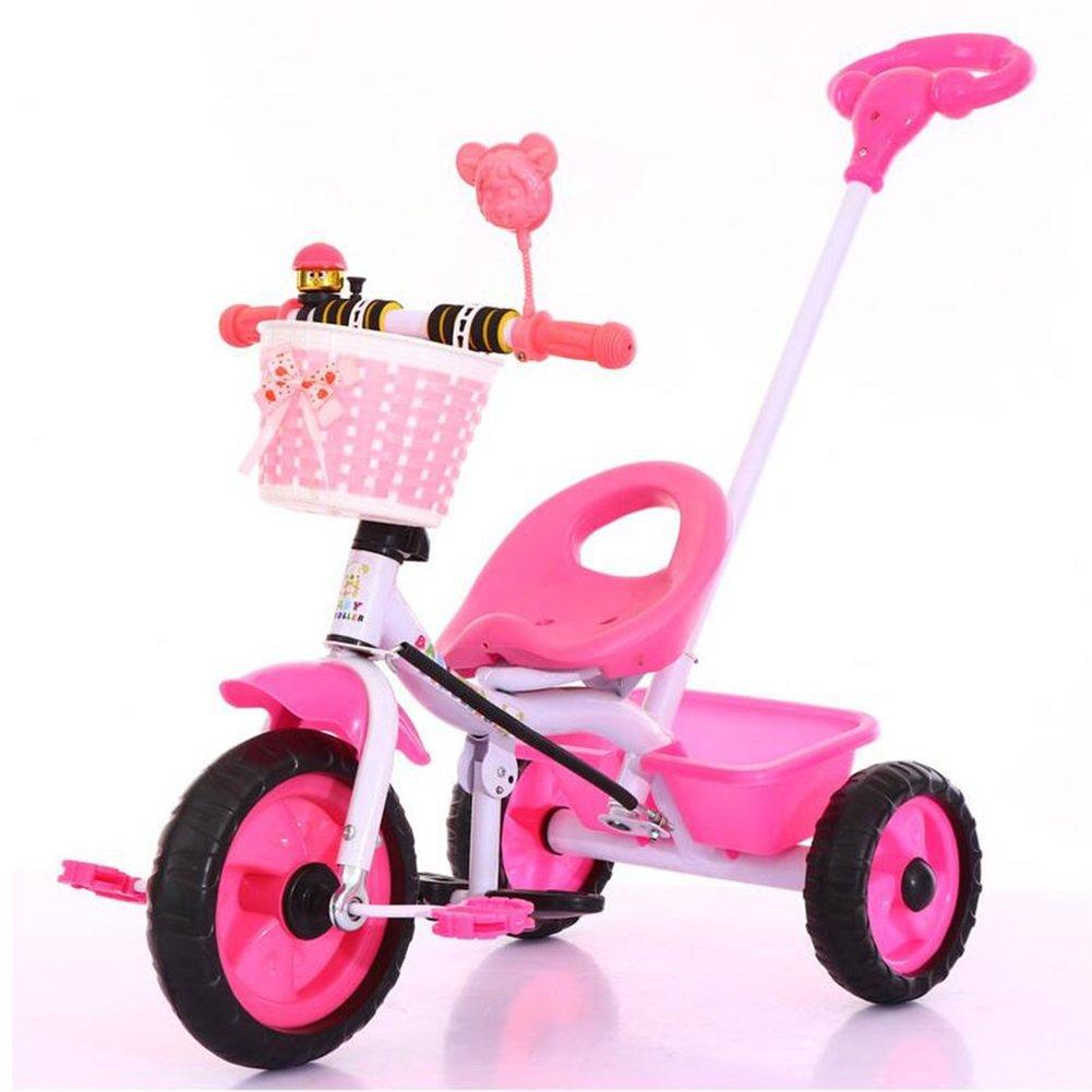 XQ 子供 軽量 EVA発泡ホイール 三輪車 1-3-5歳 赤ちゃん トロリー 子ども用自転車 ( 色 : ピンク ぴんく ) B07CG76ZPJピンク ぴんく