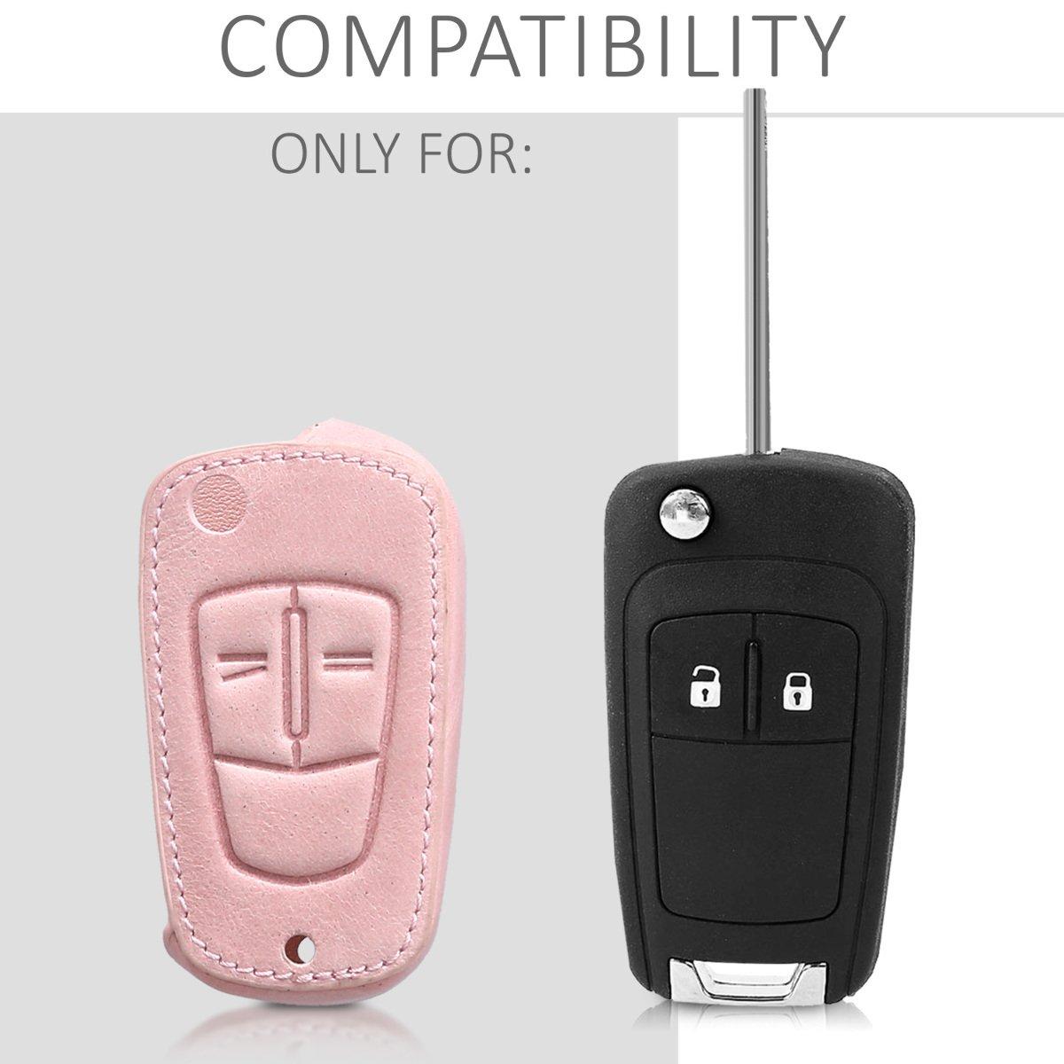 Cubierta de Cuero sint/ético Case para Mando y Control de Auto con dise/ño Drive me Crazy kwmobile Funda para Llave Plegable de 2 Botones para Coche Opel Vauxhall