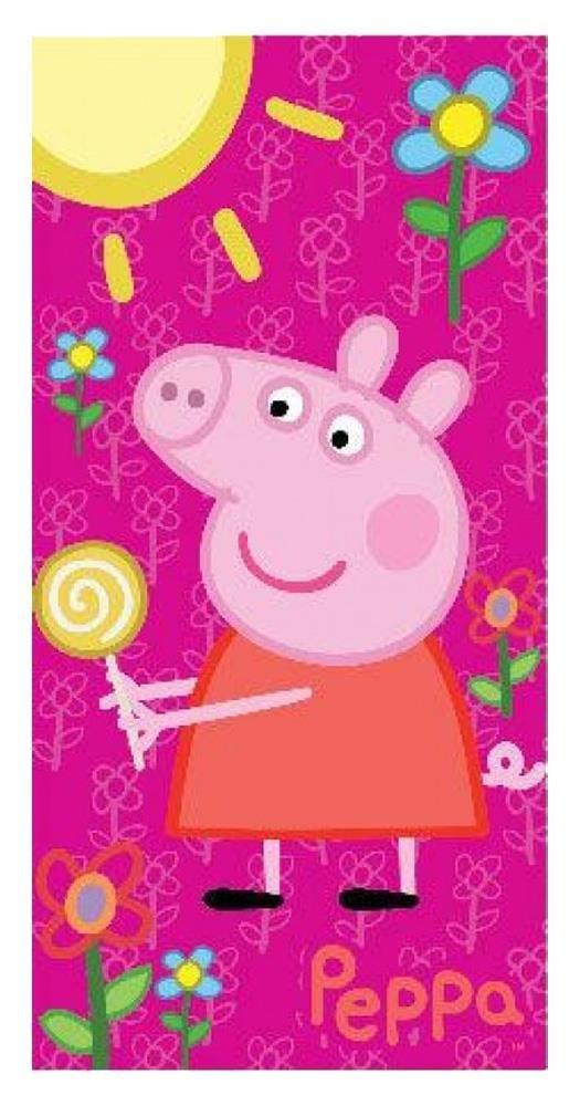 Liscianigiochi Toalla de playa - Diseño Peppa Pig - Color fucsia: Amazon.es: Juguetes y juegos