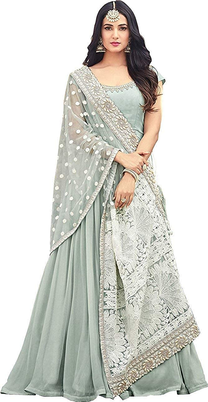 PAKINDI FASHION Salwar Kameez Party wear semi Stitched Anarkali Suit with Exclusive Dupatta
