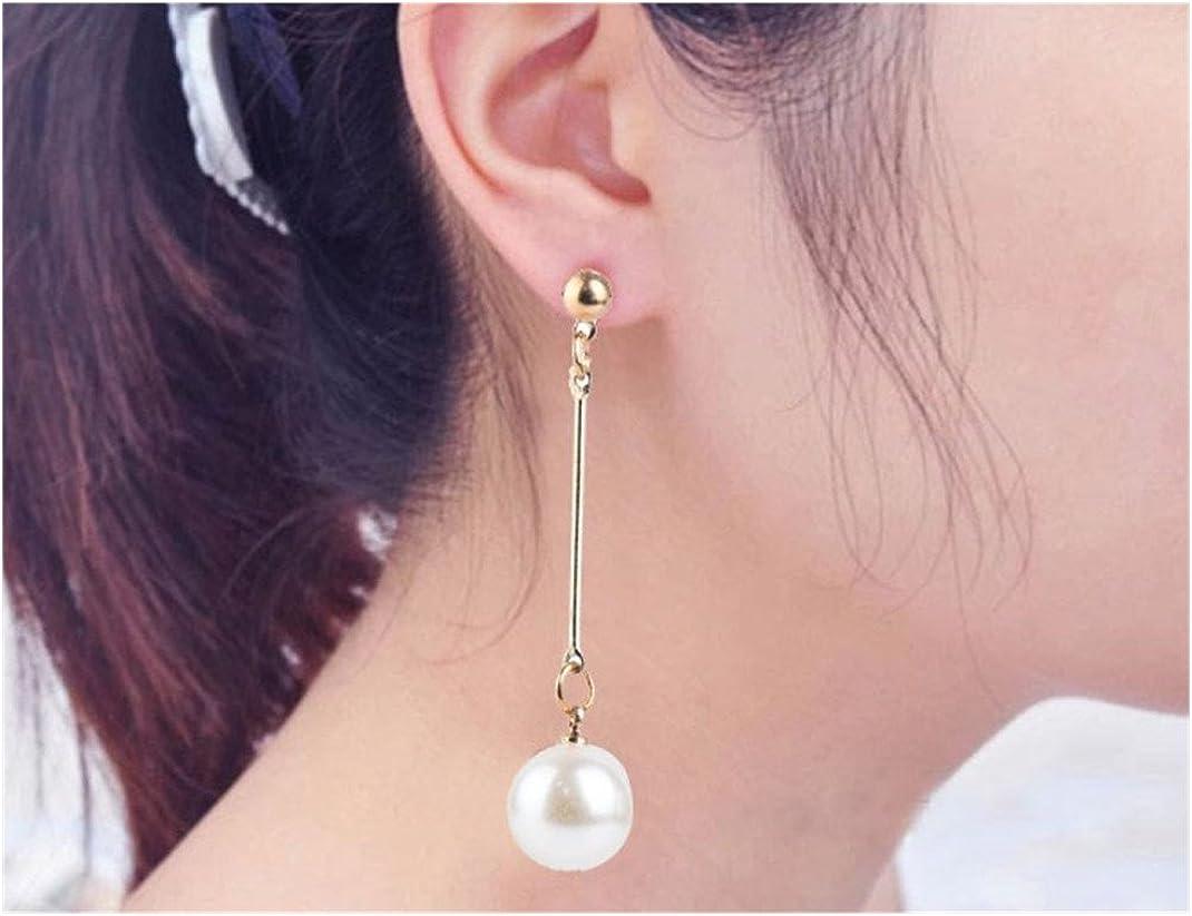 Pearl Earring,ManxiVoo OL Imitation Pearl Dangle Earrings Jewelry Pearl Long Drop Stud Earrings for Women Girls