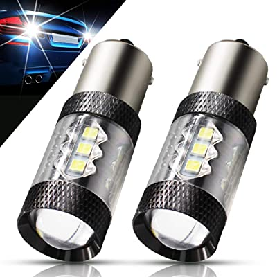 Boodlied 2pcs BA15S 1156 P21W LED Bulbs 9~32V 640Lumens Super Bright 3030 16-SMD Chipsets LED Lights For Car Turn Signal Tail Brake Light Backup Reverse Lights,White.: Automotive