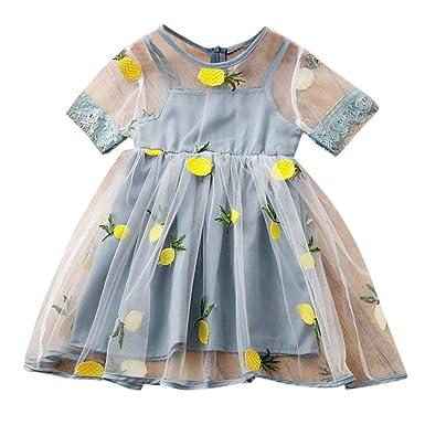 Vestido para niñas, Sunyastor para niños y niñas, piña de limón ...