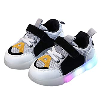 82e8236e39 AchidistviQ Fashion Kinder Mädchen Jungen Sneaker LED Licht Anti-Rutsch- Schuhe Geschenk, Gummi