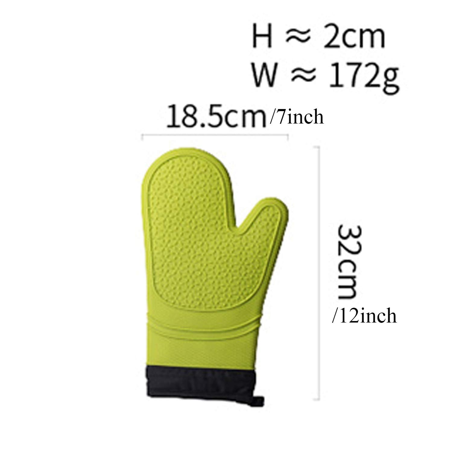 XIAOF-FEN High Temperature Resistant Anti-scalding Gloves Silicone and Cotton Insulation Baking High Temperature Resistant Modern Housewife Kitchen Anti-hot Gloves Wear-Resistant Non-Slip by XIAOF-FEN