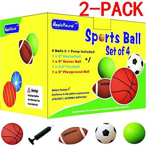 2 Pack Sports Basketball Playground Football
