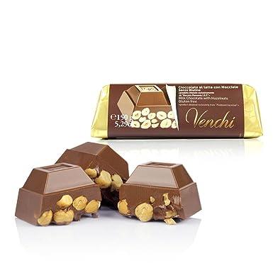 Venchi - Cioccolato al latte con Nocciole - Chocolate con leche de una pieza con avellanas