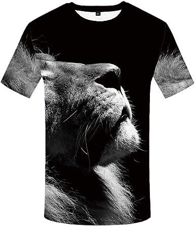 Camisa de Tigre Negra con Estampado de Animales, Camiseta de Manga Corta para Hombre, Camiseta de Gran tamaño, Moda de Hip Hop, Verano - - 4X-Large: Amazon.es: Ropa y accesorios