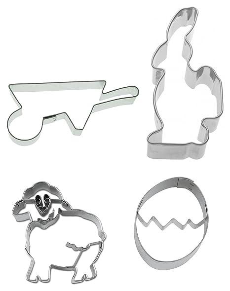 "Ausstechset "" Pascua 17,78 cm Conjunto de 4 conejo - carretilla - cordero"