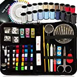 SEWING KIT, Over 130 DIY Premium Sewing Supplies, Mini sewing kit, 38 Spools of Thread - 20 Most Useful Colors & 18 Multi Colors, Extra 40 quality sewing pins, Travel, kids, Beginners (Premium)
