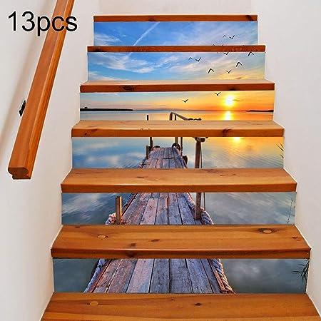 Casa y jardín Decorativos 13 UNIDS DIY Decoración casera Creativa silenciosa de la Escalera del mar, Tamaño: 18 * 100 cm: Amazon.es: Hogar