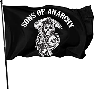 Sons of Anarchy Outdoor Flag Banner 3x5 Ft Flag 3x5 Outdoor