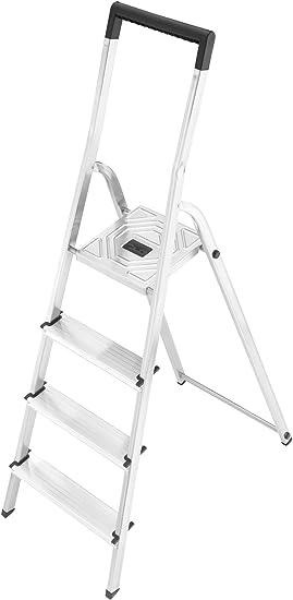 Hailo 8140-407 Escalera de tijera aluminio, 4 peldaños: Amazon.es ...