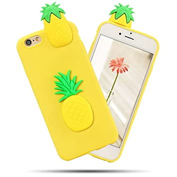 coque silicone iphone 6 ananas