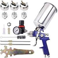 $32 » BANG4BUCK Professional HVLP Gravity Feed Air Spray Gun, 1.4mm 1.7mm 2.5mm Nozzles,…