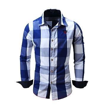 Mena Uk Ocio Camisa Hombre 100% Algodón Textura Avanzada Camisa A ...