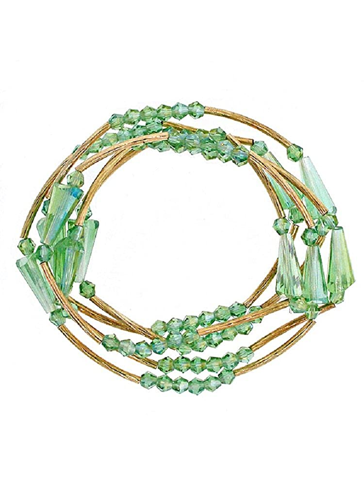 Roses Gift Store~Fashion Jewelry Green Wrap Over Bracelet