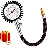 [2018 UPGRADED]Tire Pressure Gauge, MrLi Tire Gauge Professional Tire Pressure Gauges 100 PSI Automatic Reading Tire Gauge Air Gauge for Car Truck Motorcycle with Premium Hose