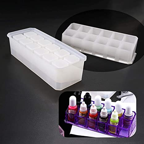 Silicone Resin Casting Mold Lipstick Holder Display Stand Case Epoxy Mould-Craft
