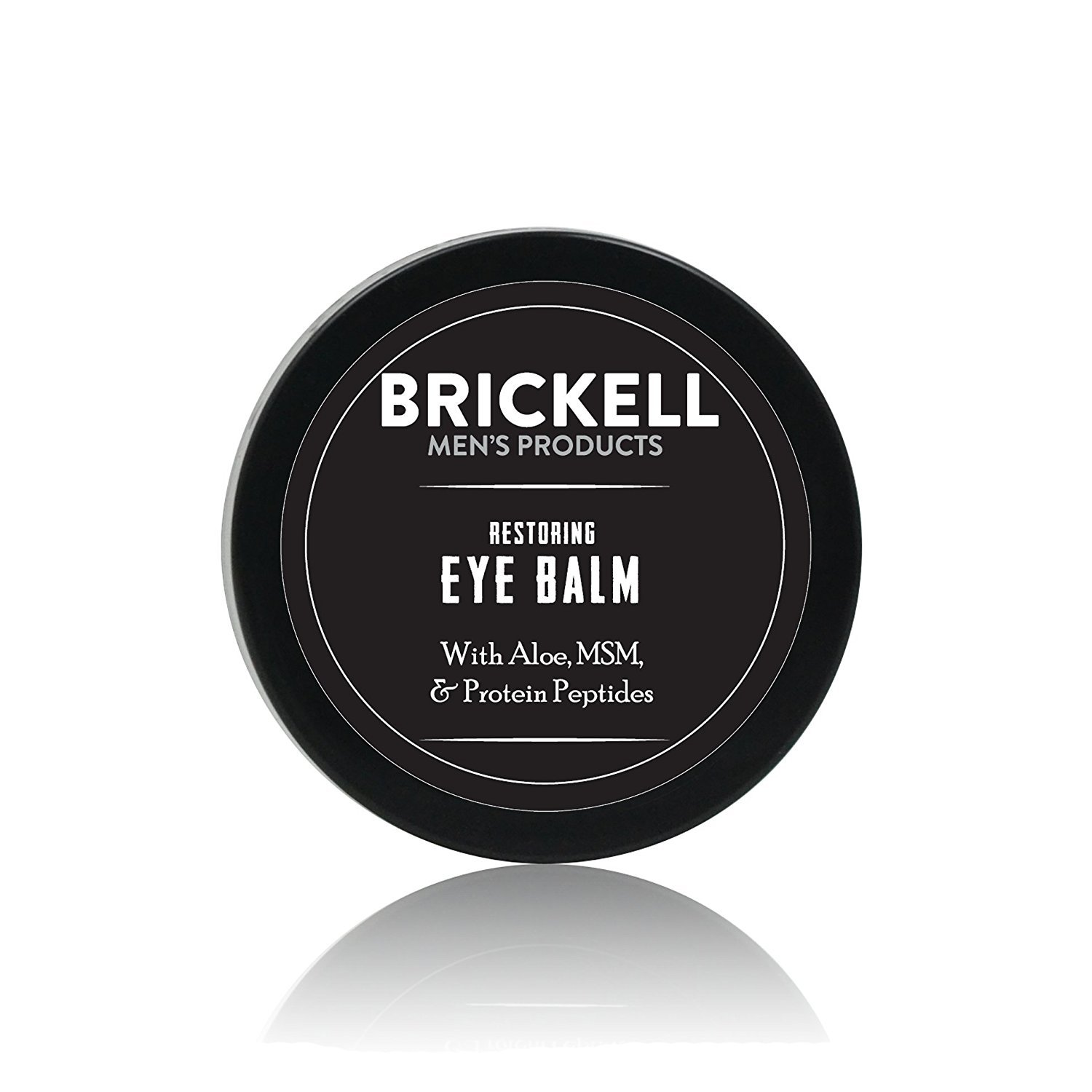 Brickell Men's Restoring Eye Cream for Men - Natural Anti Aging Eye Balm To Reduce Puffiness, Wrinkles, Dark Circles, Under Eye Bags - .5 oz Brickell Men's Products EB134