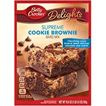 Betty Crocker Delights, Supreme Cookie Brownie Mix, 19.5 Oz Box (Pack of 8)