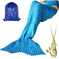 Heartybay Crochet Mermaid Tail Blanket for Adult, Super...
