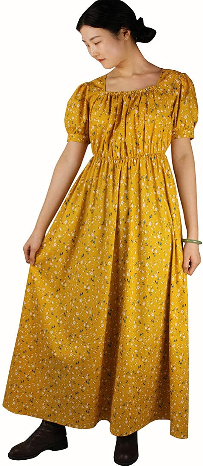Cottagecore Dresses Aesthetic, Granny, Vintage Loli Miss Vintage Women Regency Dress Reenactment Costume Victorian Ball Gown $36.99 AT vintagedancer.com