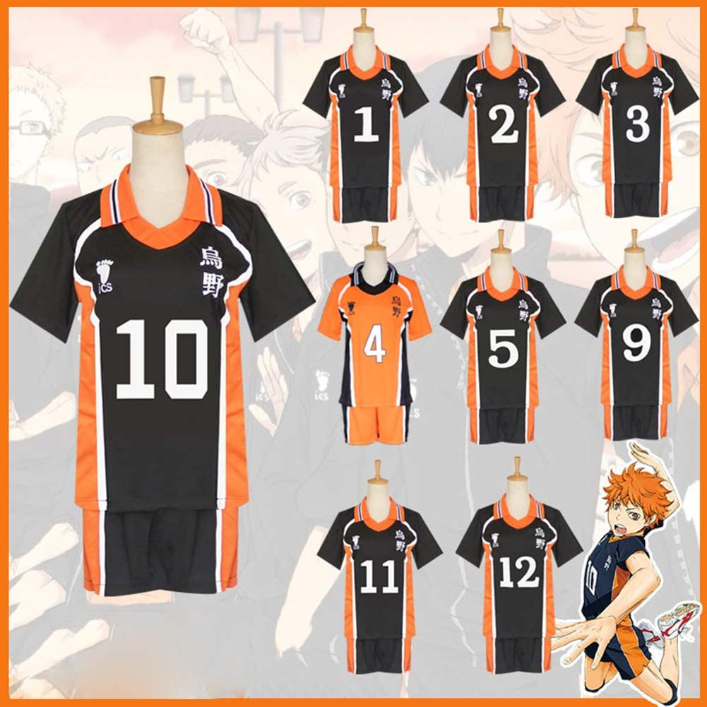 Anime Haikyuu Hinata Shoyo Cosplay Costume Halloween Party Daily Clothing Mens Sportswear High School Jersey Uniforms Volleyball Suit
