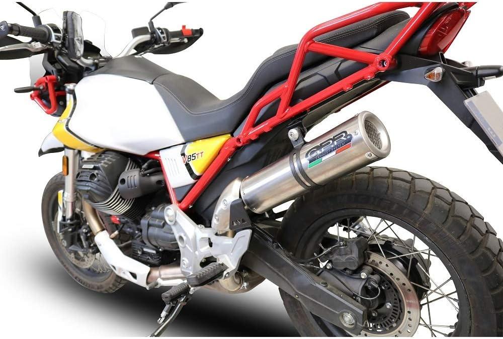 Gpr Auspuff Kompatibel Motorrad Guzzi V85 Tt 2019 2020 Auspuff Racing Mit Raccordo M3 Titanium Natural Auto
