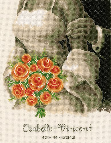 Vervaco The Bouquet Wedding Sampler Cross Stitch Kit