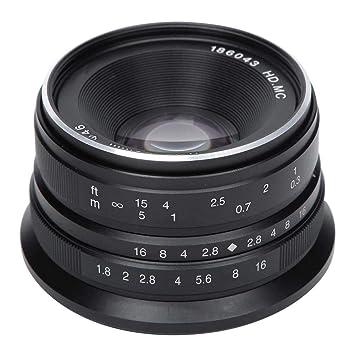 Lente de Cámara 25 mm / f1.8 Lente de Enfoque Manual de 25 mm ...
