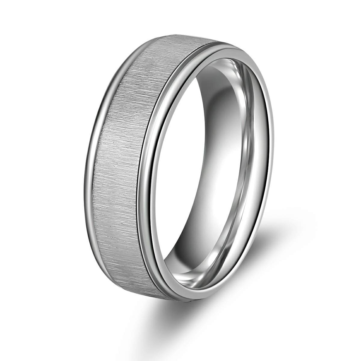 Ello Elli 7mm/8mm Titanium Ring (Silver, 10/7mm)