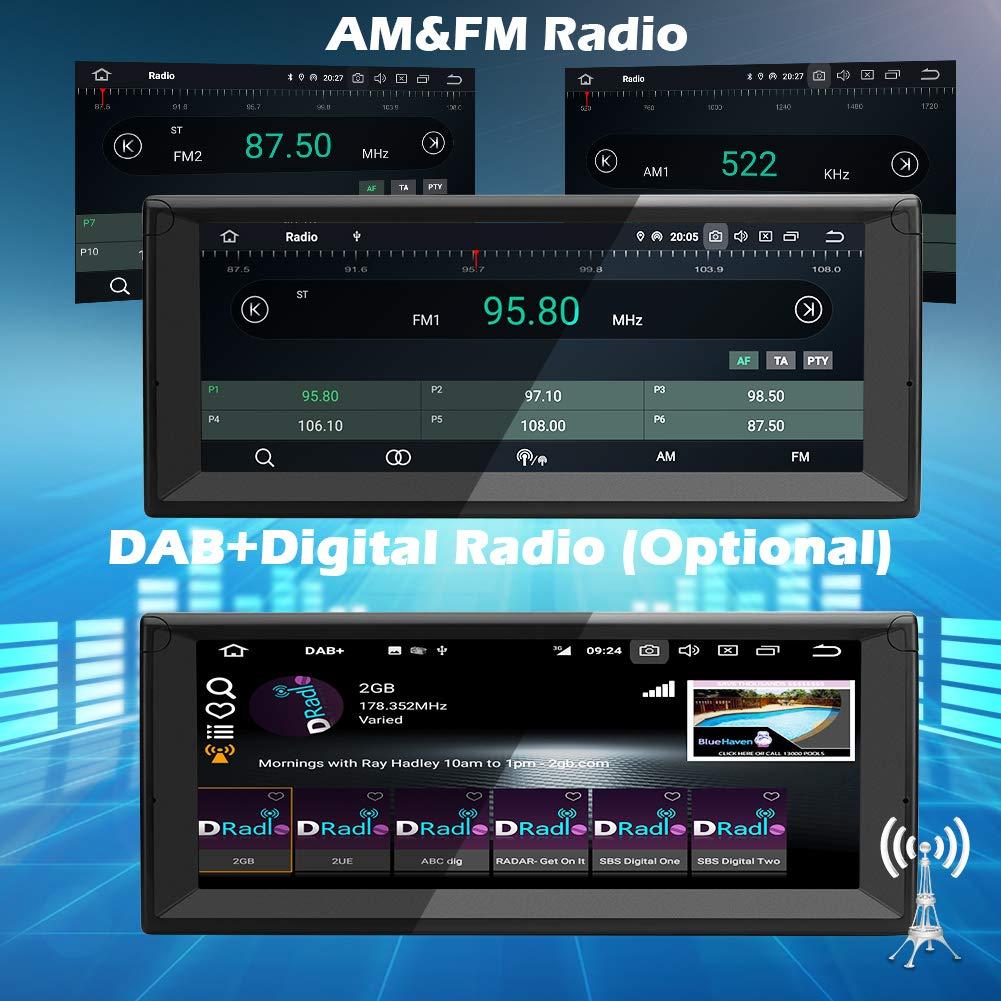 f/ür BMW 5 E39 Series//BMW X5 E53 Series Ohok 10,25 Zoll Bildschirm 1 Din Autoradio Android 9.0 Pie Octa Core 4G+32G Radio mit Navi Moniceiver GPS Navigation Unterst/ützt Bluetooth DAB