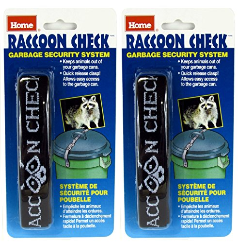 Raccoon Check Garbage Can Security System (Pack of 2) (Bear Proof Trash Can)