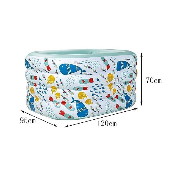 & bañera plegable Familia Inflable para bebés Piscina para niños ...