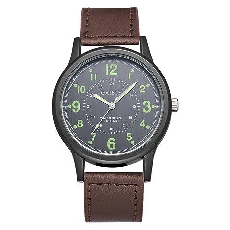Vanpower Reloj de pulsera de cuarzo de banda de reloj simple de moda para hombre Reloj