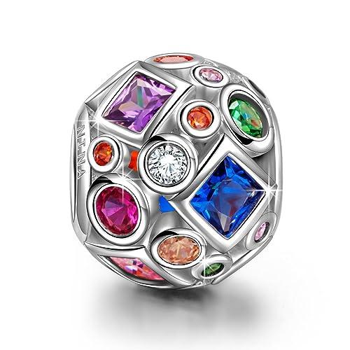 Pandora Charms Weihnachten.Ninaqueen Silber Charm Halskette Unterbrochener Regenbogen Mit Schmuckkasten Frohliche Weihnachten