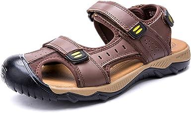 Sandales Sports Été Hommes En Cuir Plage Chaussures D'eau