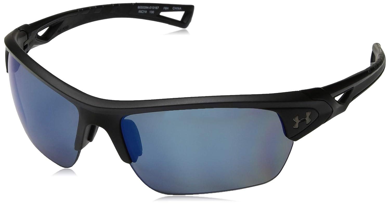 8071cd0c74a Amazon.com  Under Armour Ua Octane Polarized Wrap Sunglasses Black 68 mm   Clothing