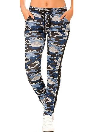 680cc8d8475 dmarkez-vous - Legging Jogging Militaire armé Femme avec Poches - S M