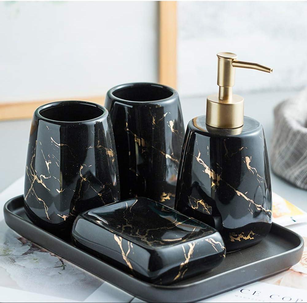 QQRH Set di Accessori da Bagno 5 Pezzi,semplicit/à Moderna Forniture,per Bagno,Portasapone,Tazza risciacquo Set di Accessori da Bagno Completo Sapone Portasapone Rinse Cup