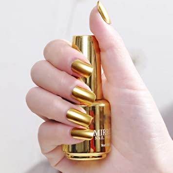 80bd4a9217e Buy Hilary Rhoda Mirror Nail Polish- Golden Online at Low Prices in India -  Amazon.in